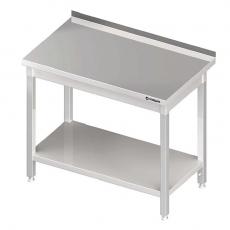 Stół roboczy nierdzewny składany z półką<br />model: 980046060<br />producent: Stalgast