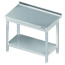 Stół roboczy nierdzewny składany z półką<br />model: 980047060<br />producent: Stalgast
