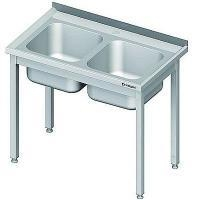 Stół nierdzewny ze zlewem 2-komorowym składany<br />model: 980776120<br />producent: Stalgast