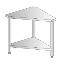 Stanowisko narożne zewnętrzne z blatem stalowym<br />model: DM-94972-O-S<br />producent: Dora Metal
