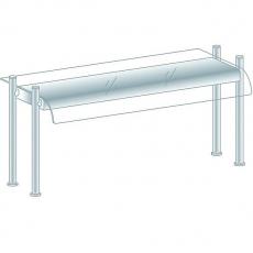 Nadstawka z oświetleniem<br />model: DM-94583/H/1204/480<br />producent: Dora Metal