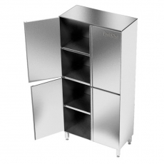 Szafa nierdzewna magazynowa dwudzielna<br />model: E3045/800/500/1800<br />producent: M&M Gastro