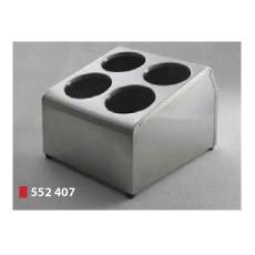 Pojemnik na sztućce 4-częściowy<br />model: 552407<br />producent: Hendi