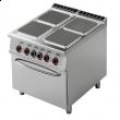 Kuchnia gastronomiczna elektryczna 4-płytowa z piekarnikiem CFQ4-98ET
