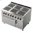 Kuchnia gastronomiczna elektryczna 6-płytowa z piekarnikiem CFQ6-912ETV
