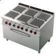 Kuchnia gastronomiczna elektryczna 6-płytowa z piekarnikiem CFQ6-912ET