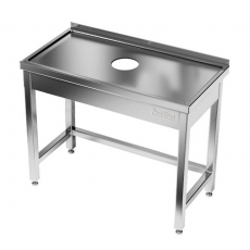 Stół nierdzewny z otworem na odpadki<br />model: E2510/800/700<br />producent: ProfiChef