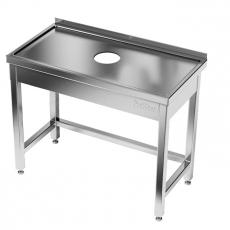 Stół nierdzewny z otworem na odpadki<br />model: E2510/900/700<br />producent: ProfiChef