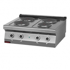 Kuchnia gastronomiczna elektryczna 4-płytowa | KROMET 700.KE-4<br />model: 700.KE-4<br />producent: Kromet