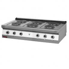 Kuchnia gastronomiczna elektryczna 6-płytowa | KROMET 700.KE-6<br />model: 700.KE-6<br />producent: Kromet