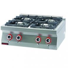 Kuchnia gastronomiczna gazowa 4-palnikowa | KROMET 700.KG-4<br />model: 700.KG-4<br />producent: Kromet