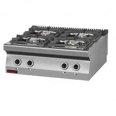 Kuchnia gastronomiczna gazowa 4-palnikowa   KROMET 700.KG-4<br />model: 700.KG-4<br />producent: Kromet