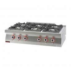 Kuchnia gastronomiczna gazowa 6-palnikowa | KROMET 700.KG-6<br />model: 700.KG-6<br />producent: Kromet