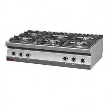 Kuchnia gastronomiczna gazowa 6-palnikowa   KROMET 700.KG-6<br />model: 700.KG-6<br />producent: Kromet