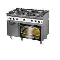 Kuchnia gastronomiczna gazowa 6-palnikowa z piekarnikiem gaz. | KROMET 700.KG-6/PG-2/SD<br />model: 700.KG-6/PG-2/SD.A<br />producent: Kromet