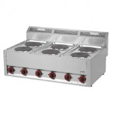 Kuchnia gastronomiczna elektryczna 6-płytowa SP 90 ELS<br />model: 00000492<br />producent: Redfox