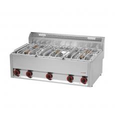 Kuchnia gastronomiczna gazowa  5-palnikowa SP 90/5 GL<br />model: 00000495<br />producent: Redfox