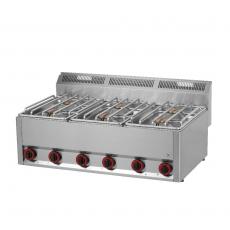Kuchnia gastronomiczna gazowa  6-palnikowa SP 90 GL<br />model: 00000496<br />producent: Redfox
