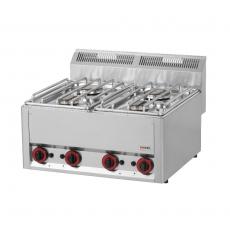 Kuchnia gastronomiczna gazowa  4-palnikowa SP 60 GL<br />model: 00000494<br />producent: Redfox