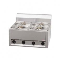 Kuchnia gastronomiczna gazowa 4-palnikowa SP 60 GLS<br />model: 00000498<br />producent: Redfox