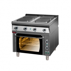Kuchnia gastronomiczna elektryczna 4-płytowa | KROMET 900.KE-4PE/1T<br />model: 900.KE-4/PE-1T<br />producent: Kromet
