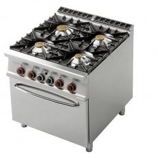 Kuchnia gastronomiczna gazowa 4-palnikowa z piekarnikiem CF4-98G<br />model: 00001080<br />producent: Lotus