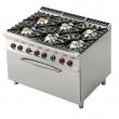 Kuchnia gastronomiczna gazowa 6-palnikowa z piekarnikiem CF6-912GE