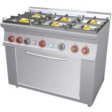 Kuchnia gastronomiczna gazowa 6-palnikowa z piekarnikiem CF6-610G<br />model: 00000673<br />producent: Lotus