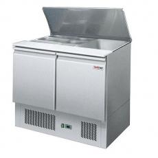 Lada chłodnicza sałatkowa 2-drzwiowa z pokrywą uchylną S-900<br />model: 00001402<br />producent: Redfox