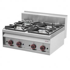 Kuchnia gastronomiczna gazowa  4-palnikowa PC-8G<br />model: 00000754<br />producent: Redfox
