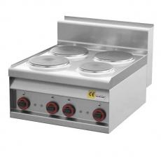 Kuchnia gastronomiczna elektryczna 4-płytowa PC-6ET<br />model: 00000714<br />producent: Redfox