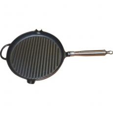 Patelnia żeliwna grillowa okrągła<br />model: T-120310<br />producent: Tom-Gast