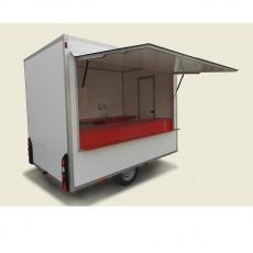 Przyczepa gastronomiczna 1-osiowa PNCH<br />model: H250/210<br />producent: Christ