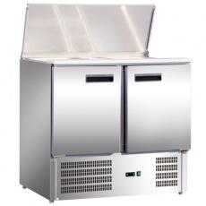 Lada chłodnicza sałatkowa 2-drzwiowa z pokrywą uchylną<br />model: 842129<br />producent: Stalgast