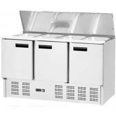 Lada chłodnicza sałatkowa 3-drzwiowa z pokrywą uchylną<br />model: 842139<br />producent: Stalgast