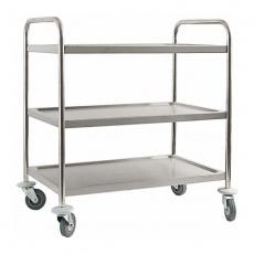Wózek kelnerski nierdzewny 3-półkowy składany<br />model: 661030<br />producent: Stalgast