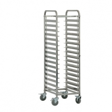 Wózek nierdzewny składany do tac i pojemników GN<br />model: 662111<br />producent: Stalgast