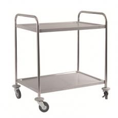 Wózek kelnerski nierdzewny 2-półkowy składany<br />model: T-28-2<br />producent: Tom-Gast