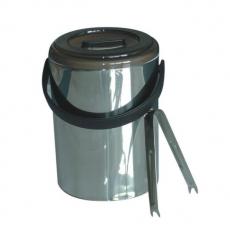 Pojemnik termoizolacyjny do lodu ze szczypcami<br />model: HP-1001-014<br />producent: Tom-Gast