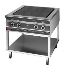 Kuchnia gastronomiczna elektryczna 4-płytowa   KROMET 000.KEZ-4u.T<br />model: 000.KEZ-4u.T<br />producent: Kromet