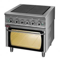 Kuchnia gastronomiczna elektryczna 4-płytowa z piekarnikiem el.   KROMET 000.KEZ-4u/PE-2<br />model: 000.KEZ-4u/PE-2<br />producent: Kromet