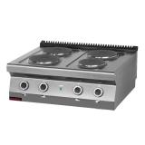 Kuchnia gastronomiczna elektryczna 4-płytowa   KROMET 700.KE-4<br />model: 700.KE-4<br />producent: Kromet