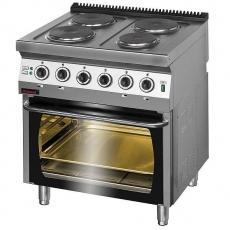 Kuchnia gastronomiczna elektryczna 4-płytowa z piekarnikiem el.   KROMET 700.KE-4/PE-2<br />model: 700.KE-4/PE-2<br />producent: Kromet