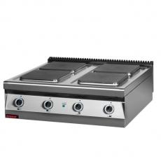 Kuchnia gastronomiczna elektryczna 4-płytowa | KROMET 900.KE-4<br />model: 900.KE-4<br />producent: Kromet
