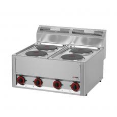 Kuchnia gastronomiczna elektryczna 4-płytowa SP 60 ELS<br />model: 00000491<br />producent: Redfox