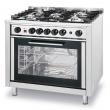 Kuchnia gastronomiczna gazowa 5-palnikowa z piekarnikiem - 225707