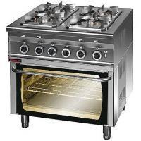 Kuchnia gastronomiczna gazowa 4-palnikowa z piekarnikiem el.   KROMET 000.KG-4s/PE-2<br />model: 000.KG-4s/PE-2<br />producent: Kromet