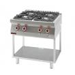 Kuchnia gastronomiczna gazowa 4-palnikowa   KROMET 700.KG-4 - 700.KG-4