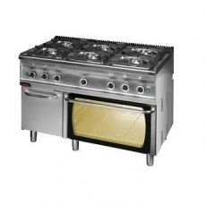 Kuchnia gastronomiczna gazowa 6-palnikowa z piekarnikiem gaz. | KROMET 700.KG-6/PG-2/SD<br />model: 700.KG-6/PG-2/SD<br />producent: Kromet