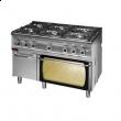 Kuchnia gastronomiczna gazowa 6-palnikowa z piekarnikiem 700.KG-6/PG-2